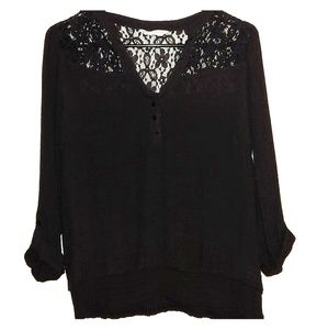 Bajee Collection by Be Cool Black Half Sleeve Top